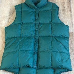 LANDS' END standard green down vest